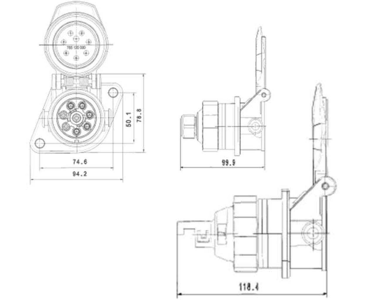ABS-Steckdose 5-polig - Plastimat GmbH