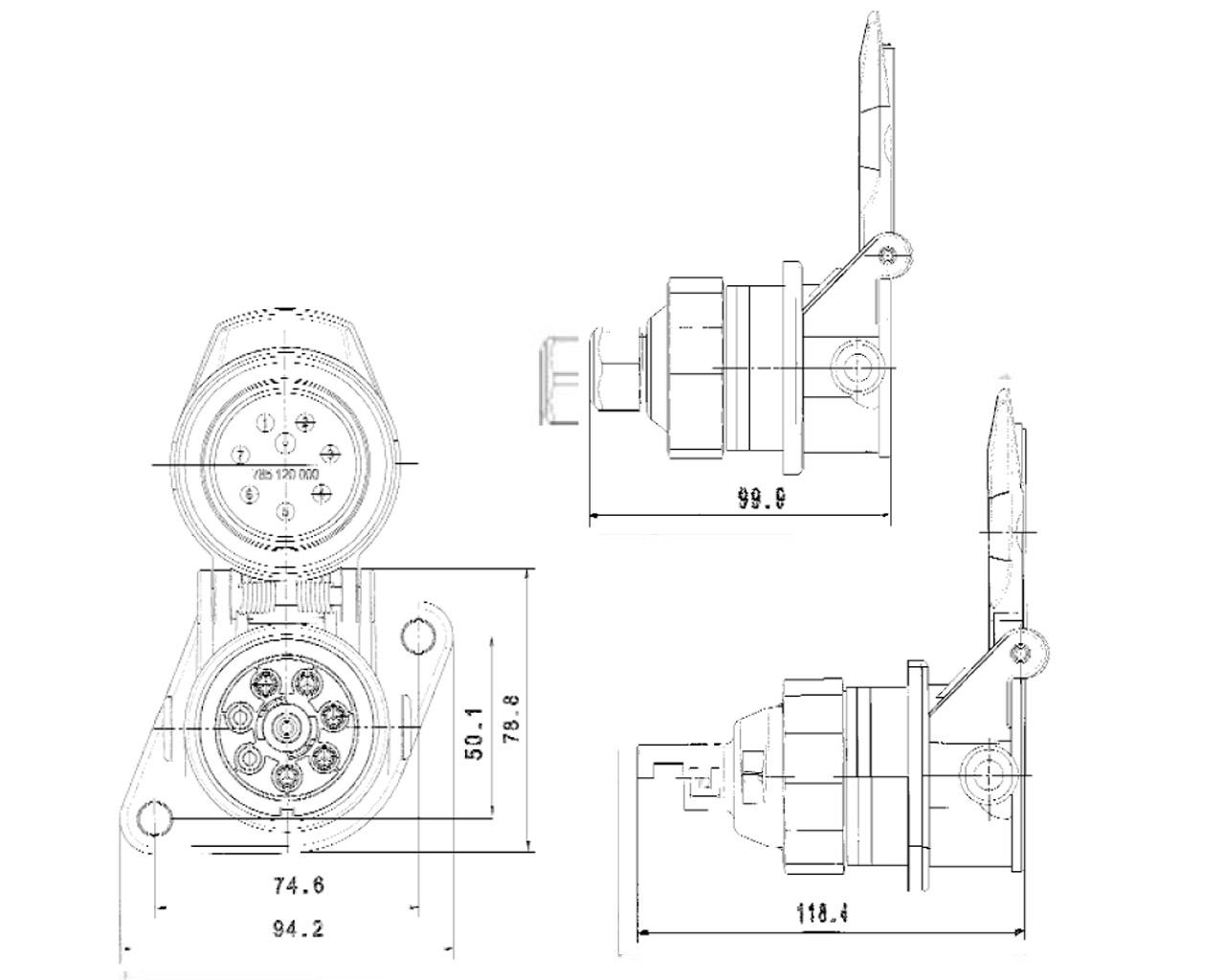 EBS-Steckdose 7-polig - Plastimat GmbH